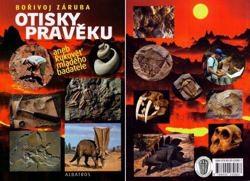 Obal knihy s zkamenělinami trilobitů  a fosílií